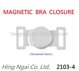Magnetic bra closure